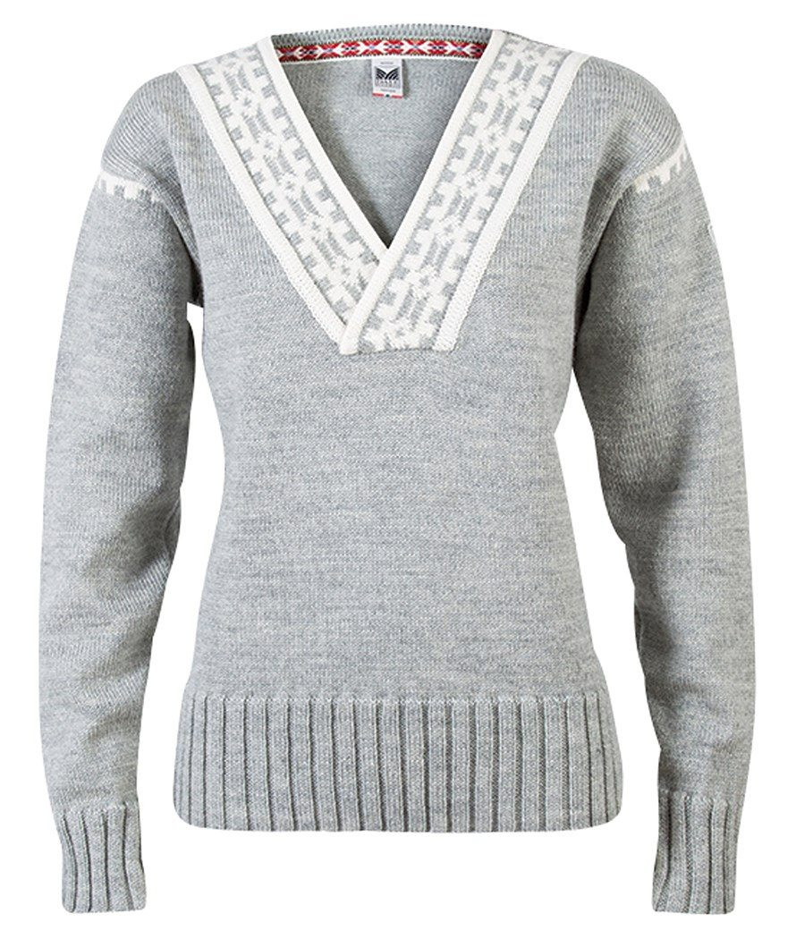 Alpina Feminine Sweater - Light Charcoal / Cream