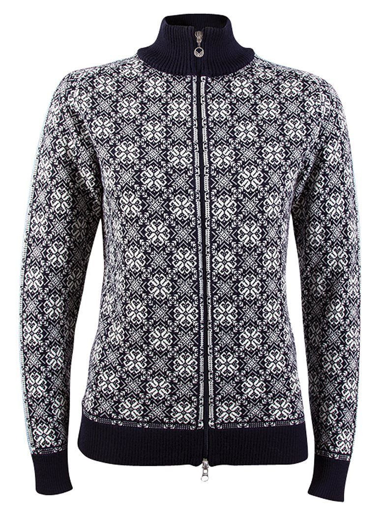 Dale of Norway - Frida Feminine Jacket - Navy / Off-White / Grey-Mel / Ice-Blue