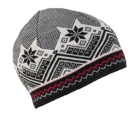 Glittertind Hat - dale-of-norway-Glittertind Hat - -Black Off-white Dark Charcoal Raspberry