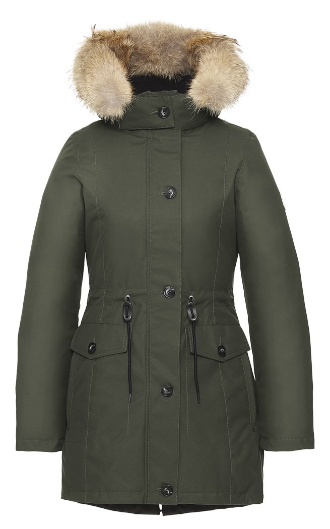 Quartz Co Laurentia Parka - Military Green
