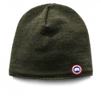 Merino Wool Beanie - Military Green