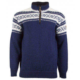 Cortina Half Zip Unisex Sweater - Navy