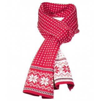 Garmisch Scarf - Raspberry / Off White / Navy