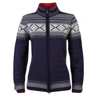 Valle Feminine Cardigan - Navy / Off White