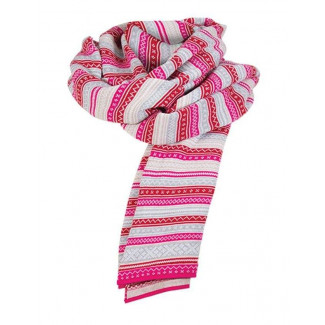 Vinje Scarf - Allium / Beige / Metal / Raspberry / Off White