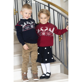 Christmas Sweater Kids Red