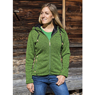 Damen Strick-Fleecejacke Chieming - Cactus Green