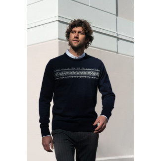 Sverre Masculine Sweater Dark Navy